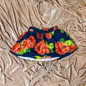 Abercrombie floral mini skirt